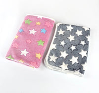 Transer Dog Bed Soft Flannel Fleece Star Print Warm Pet Blanket Sleeping Bed Cover Mat For Small Medium Dog Cat 80102