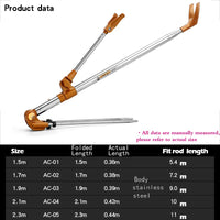 Fishing Equipment Telescopic Fishing Rods Holder Folding Stainless Steel Hand Rod Holder Use 2018 New 1.5M 1.7M 2.1M 2.3M