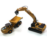 HUINA 1:50 dump truck excavator Wheel Loader Diecast Metal Model Construction Vehicle Toys for Boys Birthday Gift Car Collection