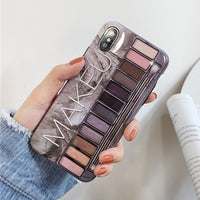 Makeup Eyeshadow Palette Phone Case For iPhone 11Pro Max XR XS Max Glossy Soft Silicone Cover For iPhone 11 Pro XR 7 8 6 6S Plus