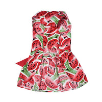 New Summer Pet Dog Dresses Polyester Watermelon Patterns Pet Princess Dress Dogs Skirt Cute Pet Clothes with Bowknot XS/S/M/L