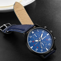 The Mens' Watches relogio masculino Quartz Wrist Watches High Quality PU Leather Watch Strap Analog Slim Dial Casual Waterproof