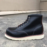 Leather Ankle Motorcycle Boots