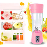 High quality safety system 380ml Portable Juice Blender USB Juicer Cup Fruit Mixer Six Blade Mixing Machine Smoothies