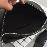 Women Chest Bag 2019 New Waist Packs Pure Color Shell Leather Messenger Shoulder Bag Phone Money Chest Bags Free Shipping