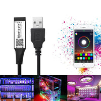 Smart RGB Bluetooth Timer Suitable LED Controller USB for 5V 3528 5050 RGB Light Strip Multicolor Changing TV Backlight
