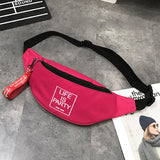 2020 Waist Bag  fanny pack  for Men Women Chest Bags Canvas kidney Belt bag zipper sports Harajuku Purse nerka sac banane femme