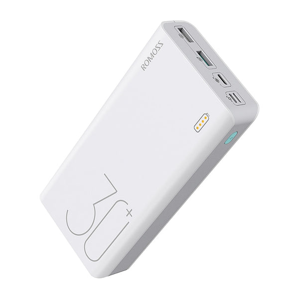ROMOSS Sense 8+ Power Bank 30000mAh With PD Two-way Fast Charging (White)