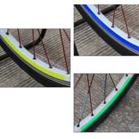 ROCKBROS Bike Wheel Rim DIY Light Decal Stickers Bicycle Reflective Sticker Cycling Safe Protector Accessories 6Colors 6pcs/pack