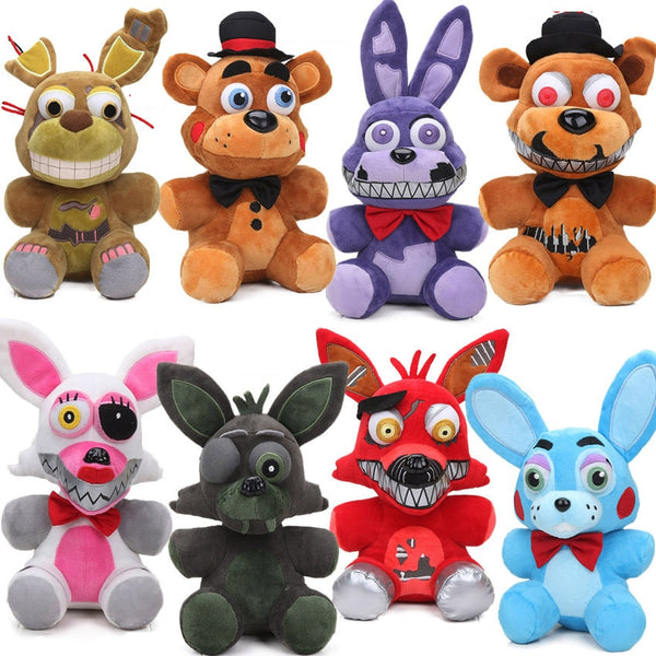 New 25cm FNAF Nightmare Freddy Bear Foxy Springtrap Bonnie Plush Toys Five Nights at Freddy's Toy Soft Stuffed Animal Dolls