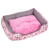 Kennel Dog Bed Mat Pet Dog Puppy Fleece Mat Winter Plush Bed House Waterproof Cloth Nest Mattress For Small Medium Large Dog