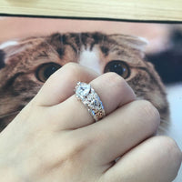 2019 European American Design Skull Rings for Women Men Gothic Punk Jewelry Flower Heart CZ Crystal Finger Skeleton Vintage Ring