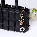 New Beautiful Clover Key Chains Creative Keychain Fashion Keyring Metal Key Ring Car Accessories Women Bag Charm Drop Shipping
