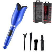 Curling Iron Automatic Hair curler with Tourmaline Ceramic Heater and LED Digital Mini Portable Curler Air Curling Wand