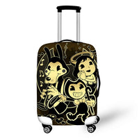 HaoYun Water-proof Luggage Cover Bendy and the Ink Machine Pattern Suitcase Cover Cartoon Elastic Dust-proof Travel Accessories