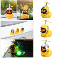 Standing Duck Bicycle Bell Broken Wind Small Yellow Duck MTB Road Bike Motor Helmet Riding Cycling Accessories With/not Lights