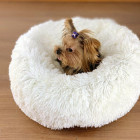 Round Plush Cat Dogs Bed House Soft Long Plush Cat Bed Round Pet Dog Bed For Small Cats Nest Winter Warm Sleeping Bed Puppy Mat