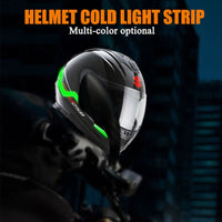 2 Pcs Waterproof Helmet Motorcycle Light Riding Signal EL Strip Flashing LED Durable Kit Bar DIY 3 Modes