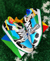 2020 New Authentic Ben Jerrys x SB Dunks Low Chunky Dunky White Lagoon Pulse Black Universit Running Shoes CU3244-100