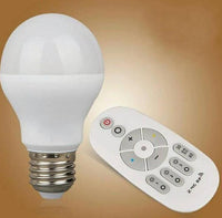 E27 Dimmable Led Bulbs Light AC 85-265V 7W Colorful Changing Led Lamps For Xmas Lighting + 2.4G Remote Control