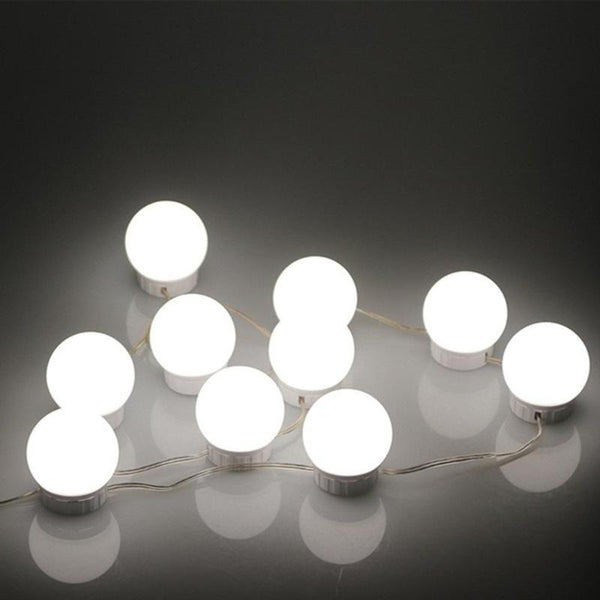 2/6/10/14 LED Makeup Mirror Light Bulb Hollywood Vanity Lights Stepless Dimmable Wall Lamp Kit for Dressing Table