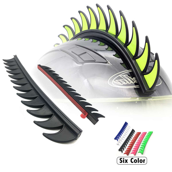 5 Color Reflective Rubber Dirt Biker Motocross Mohawk Biker Helmet Mohawks Spikes Motorcycle Helmet Mohawk Sticker
