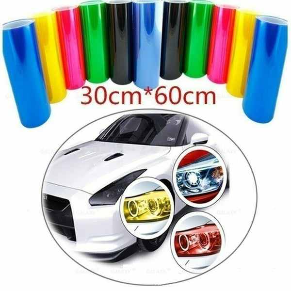 30cm*60cm Auto Car Smoke Fog Light Headlight Taillight Tint Vinyl Film Sheet Sticker car lamp film