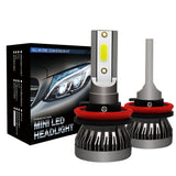 2pcs/Set Mini 1 Auto Headlight Lamp 9005 9006 H1 H4 H7 H11 Imported COB Chip 90W 12000LM White High Power Car LED Light