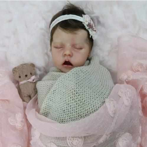 17'' Full Silicone Pearl Reborn Baby Doll Girl Toy