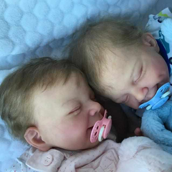 "20"" Twin Sister Jaylah and Jazmine Reborn Baby Doll Girl"