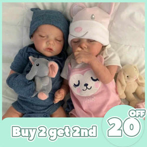 "[2rd 20% OFF] 12 "" Real Lifelike Twins Brother Katelyn and Cameron Reborn Baby Doll Girl"