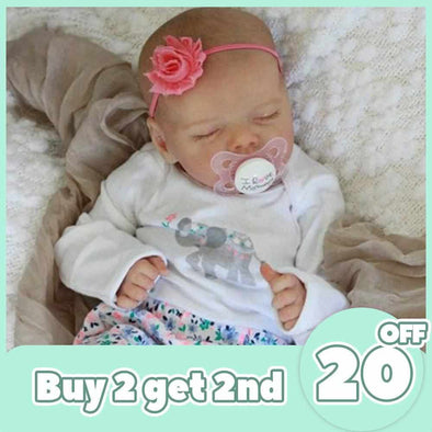[2rd 20% OFF] 12'' Real Lifelike Journey Reborn Baby Doll Girl