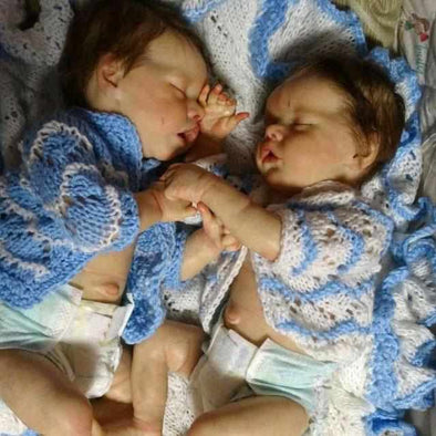 17inch Twins Sister Alexis and Aliyah Reborn Baby Doll Girl