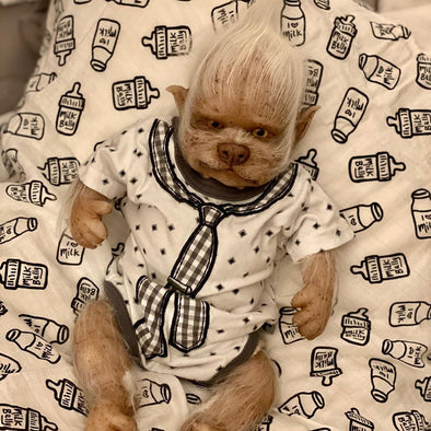 17 '' Real Lifelike Makenzie Reborn wolf Baby Doll