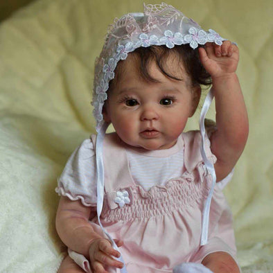 Realistic 20'' Little Cute Harlow Reborn Baby Doll Girl- So Truly Lifelike Baby