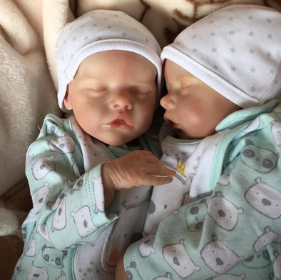 "17"" Truly Look Real Reborn Twins Baby Girl Dolls Romana and Rosalía, Birthday Gift"