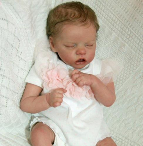 "[MID-YEAR OFFER] 17"" Reborn Twins Baby Girl Dolls Molly and Midina"