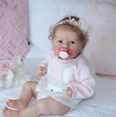 "22"" Truly Reborn Baby Girl Doll Celia, Soft Vinyl and Weighted Body Child Gifts"