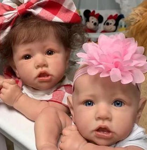 "22"" Twins Erica and Adele Reborn Baby Doll Girl, Gift"