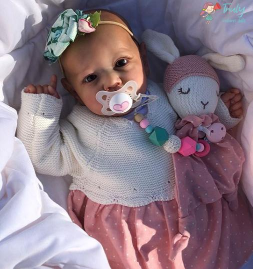 "22"" Real Life Reborn Baby Doll Girl Wanda That Look Real"