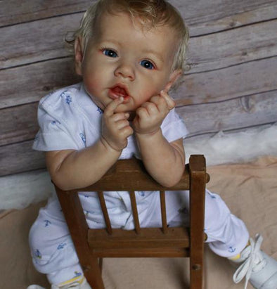 "[MID-YEAR OFFER] 22"" Truly Reborn Saskia Baby Boy Doll George, Realistic Newborn Toys"