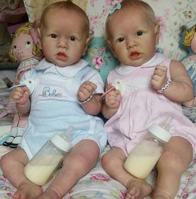 "22"" Twins Salome and Sandy Reborn Baby Doll Girl, Gift"