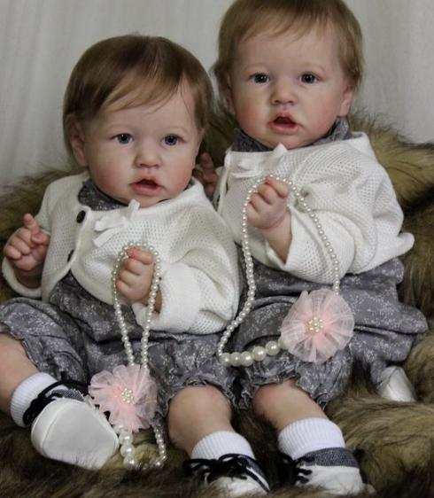 "22"" Twins Meroy and Melissa Reborn Baby Doll Girl, Gift"