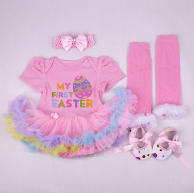 Easter Day Toy Clothing Suit for 20-22 inch Reborn Baby Girl Toy