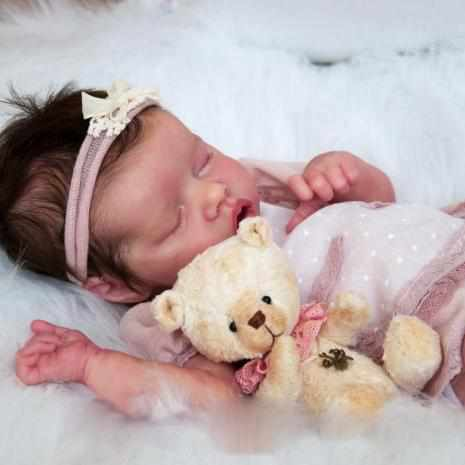 "[Heartbeat & Sound] 17"" Twin A Baby Doll Girl Renata, with Coos and ""Heartbeat"""