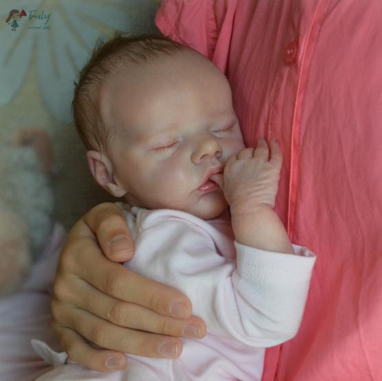 "[Heartbeat & Sound] 17"" Macy Reborn Doll Girl with Coos and ""Heartbeat"""