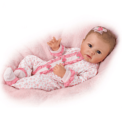 22'' Katie With Brown Hair and Blue Eyes Reborn Baby Doll-