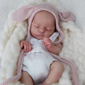 "Realistic 17"" Little Cute Jad Reborn Baby Girl"