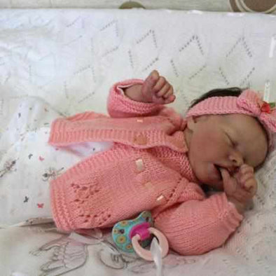 [2nd 30% OFF] 17'' Real Lifelike Halle Reborn Baby Doll Girl Toy