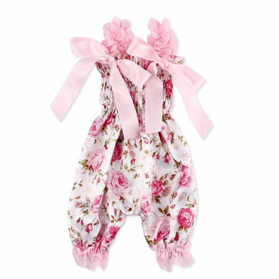 "Rose Pattern Romper Clothes Set for 20""-23"" Reborn Newborn Baby Doll"